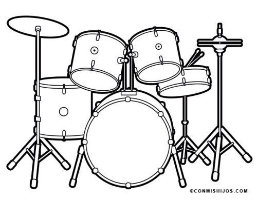 ausmalbilder instrumente