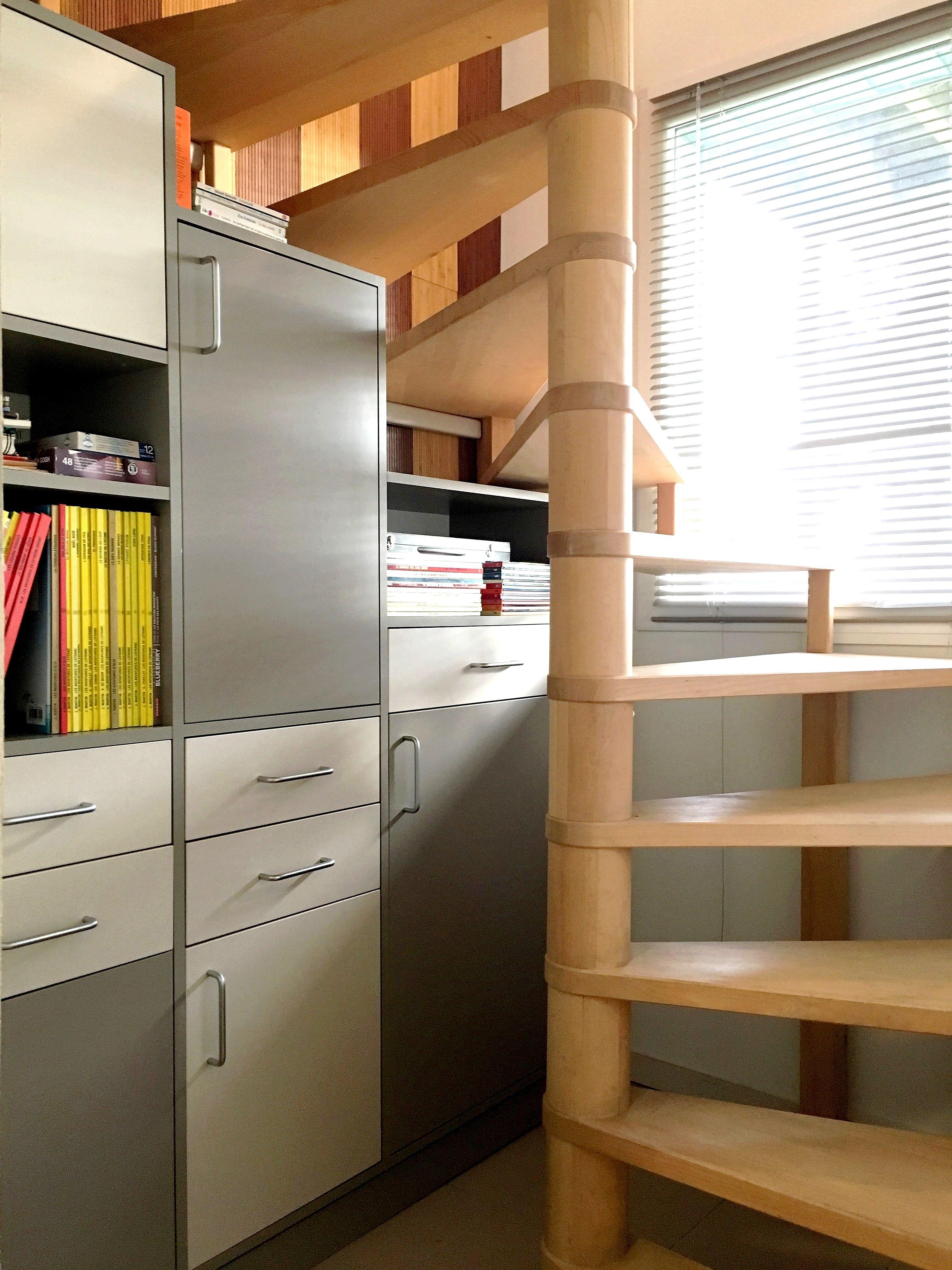 Creer Un Meuble Sous Escalier facile de créer son meuble sur mesure ! un escalier tournant