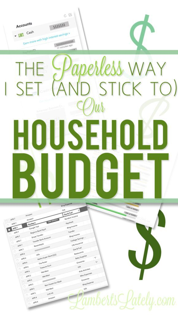 The Paperless Way I Set (and Stick To) Our Household Budget - household budget spreadsheet template