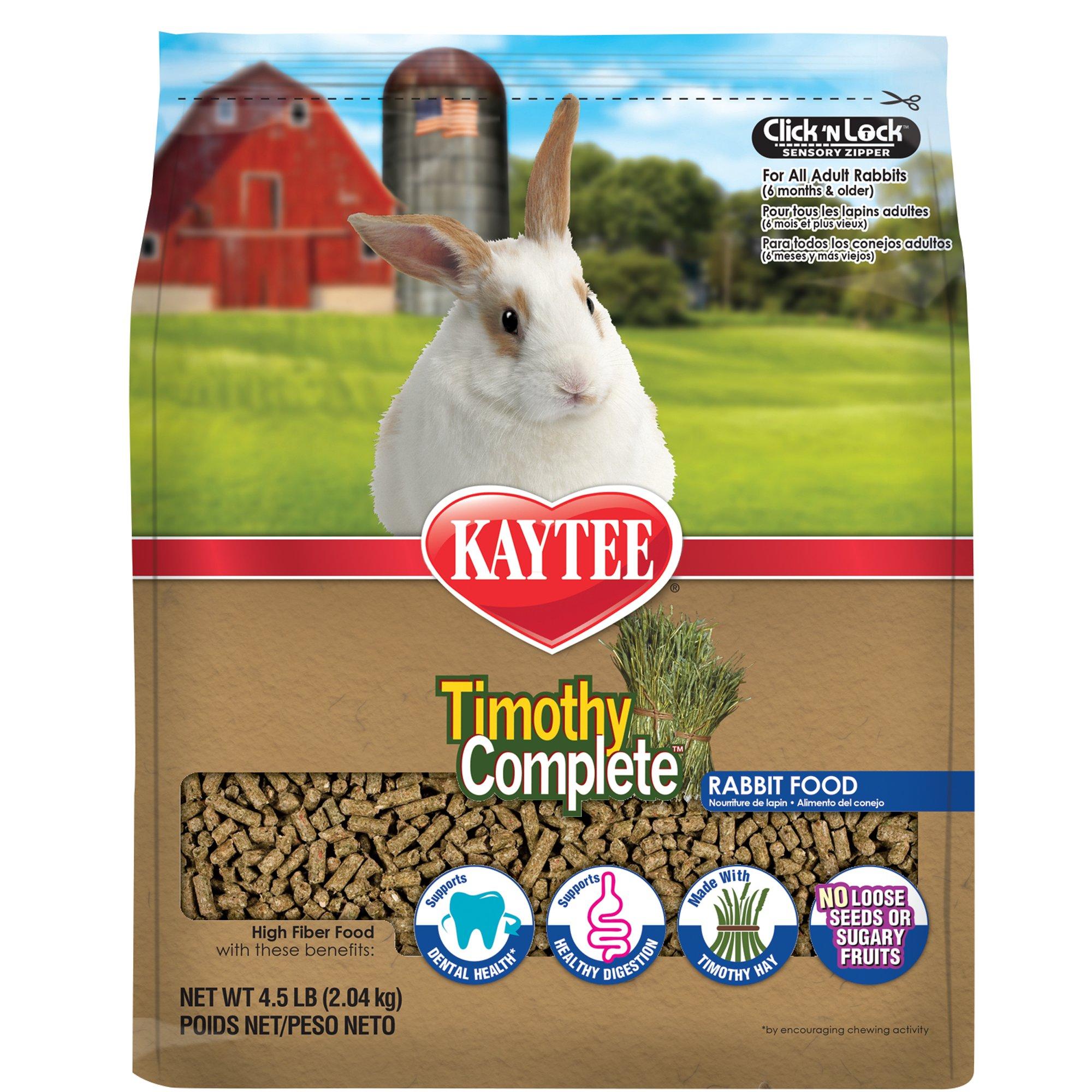 Kaytee Timothy Complete Rabbit Food Rabbit Food Fiber Diet