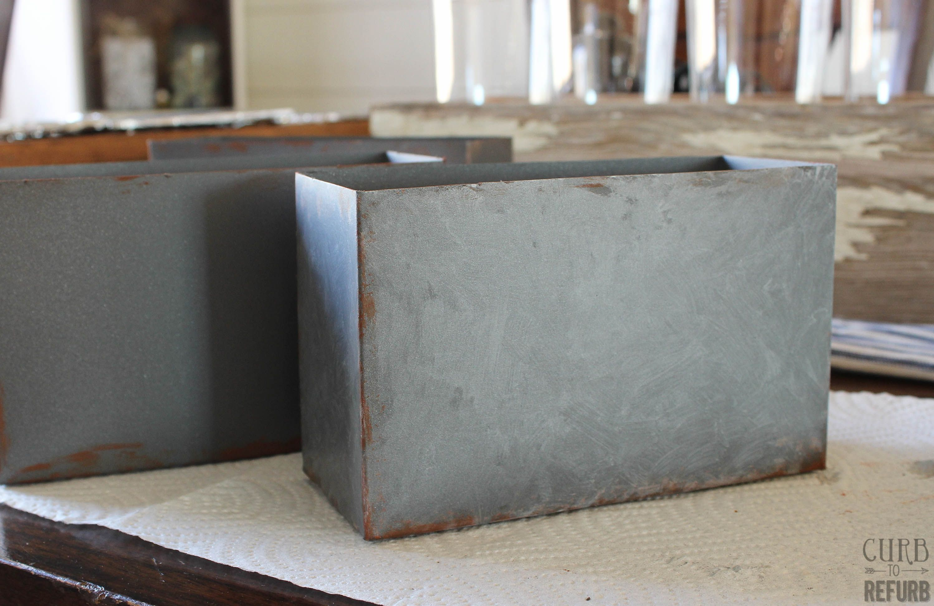 Metal Storage Boxes Painting Galvanized Steel Metal Storage Box Galvanized Metal