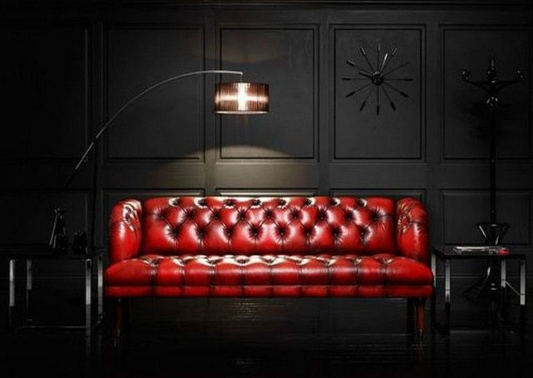20+ Cozy Modern Red Sofa Design Ideas for Living Room   Red ...