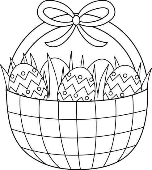 Easter Basket Coloring Page
