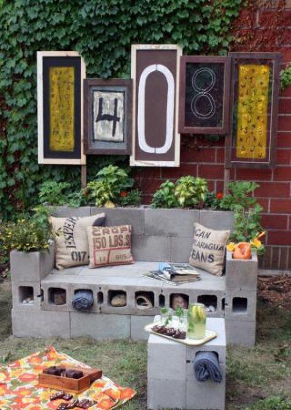 50 coole Garten Ideen für Gartenbank selber bauen Pinterest