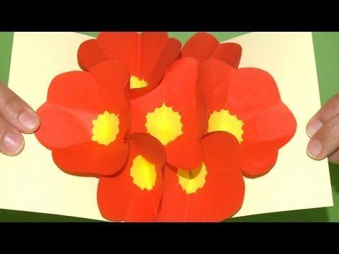 regalo san valentin tarjeta pop up flores 3d diy 3d flowers regalo san valentin tarjeta pop up flores 3d diy 3d flowers m4hsunfo