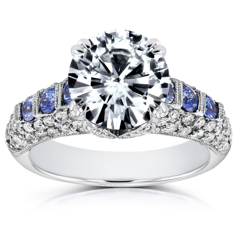 Vintage Art Deco Stil Diamant und Saphir Verlobungsring Ring 3 1