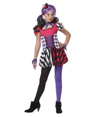 Festive Jester Girls Costume COSTUMES Pinterest Hocus pocus - halloween girl costume ideas