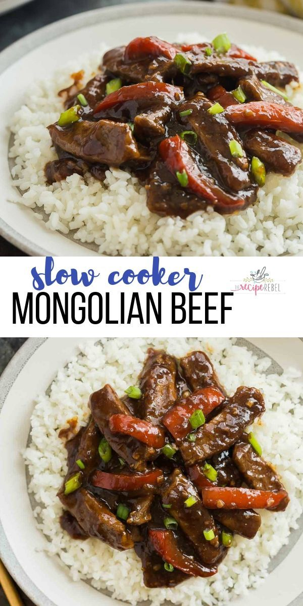 Slow Cooker Mongolian Beef Crock Pot Food Crockpot Recipes