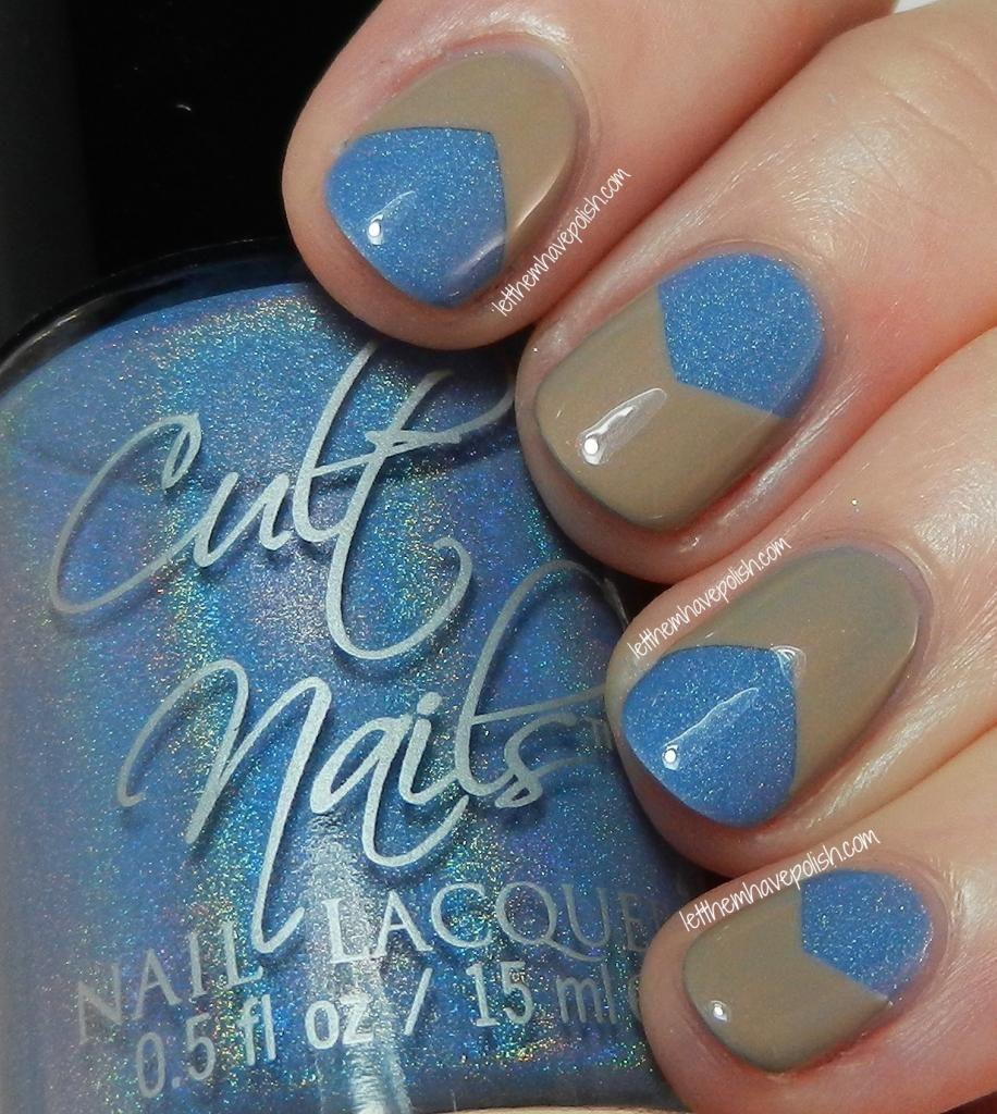 Cult Nails Intriguing and Cruisin\' Nude V- Gap Nail Art Look ...