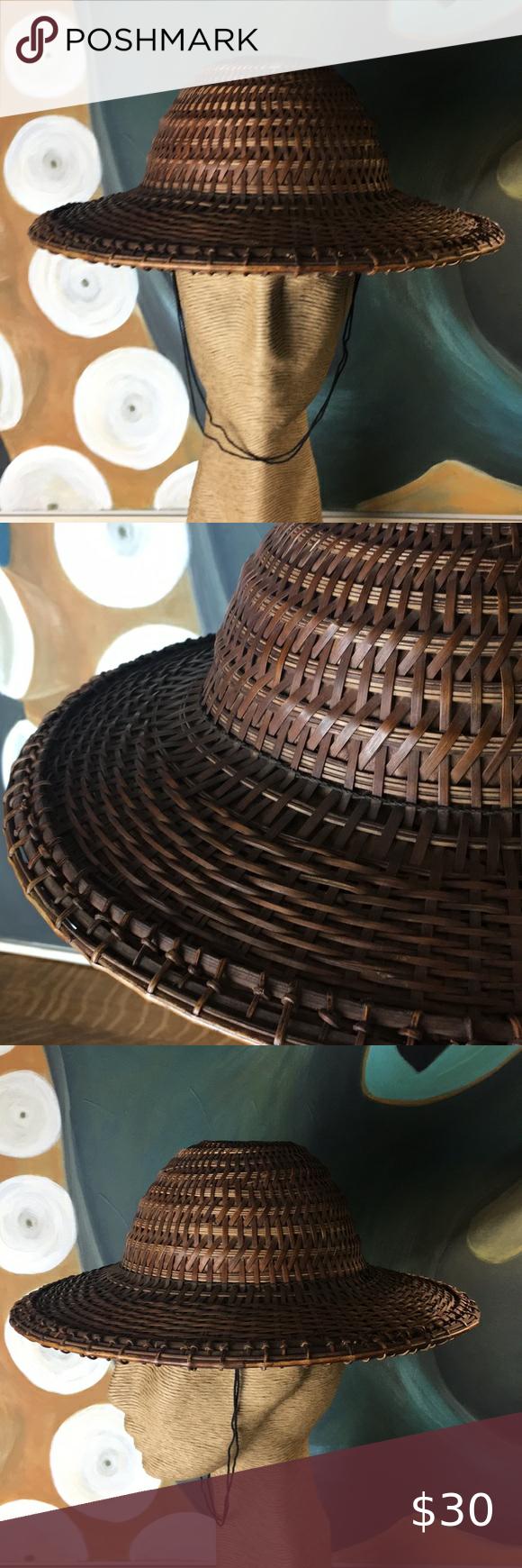 Asian Handmade Bamboo Woven Hat Hats Vintage Bamboo Weaving Woven