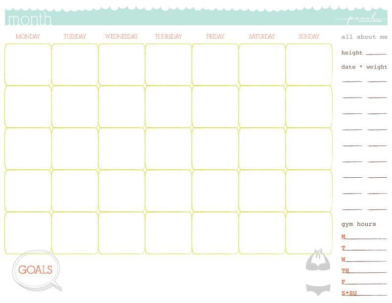 Workout Calendar Template Yourviewsite
