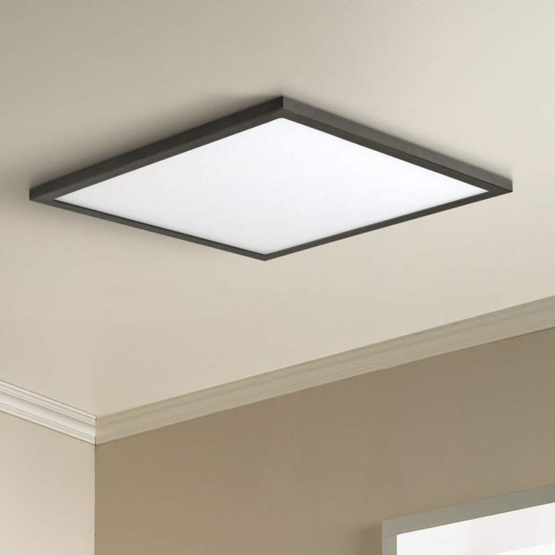 Maxim Wafer 15 Wide Bronze 3000k Led Square Ceiling Light 53v44 Lamps Plus In 2020 Square Ceiling Lights Ceiling Lights Low Ceiling Lighting