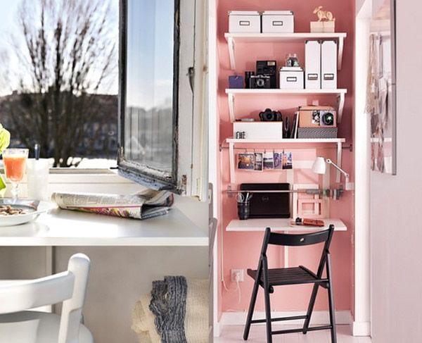IKEA Norberg Tropfenblatt-Tisch im Einsatz als Rezeption und ...