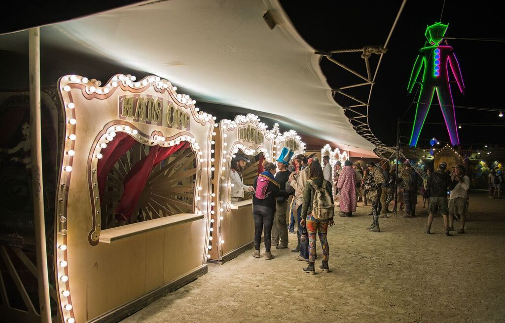 Photo Gallery: the Carnival of Mirrors Midway   Burning Man Journal