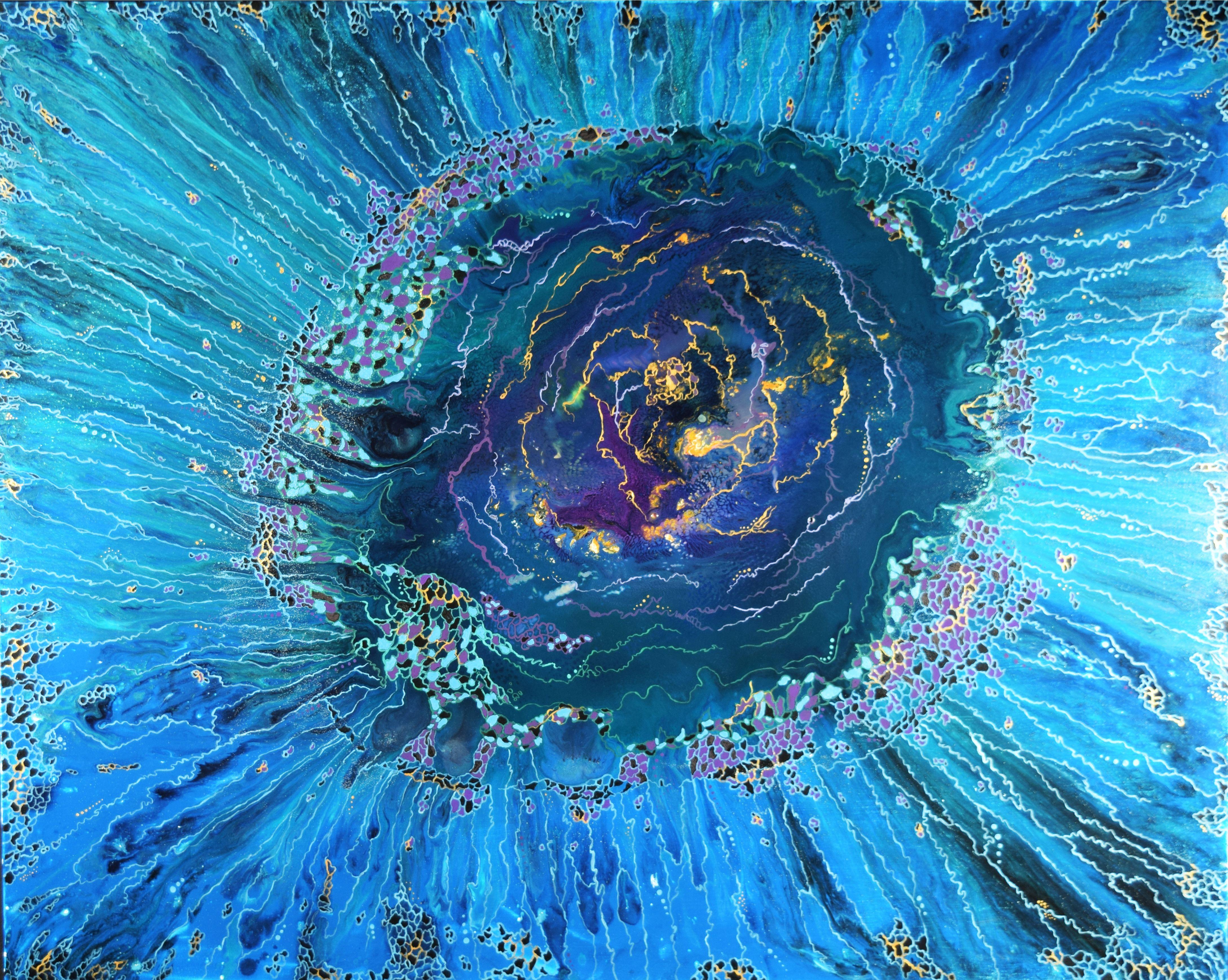 Galaxy. Mixed media