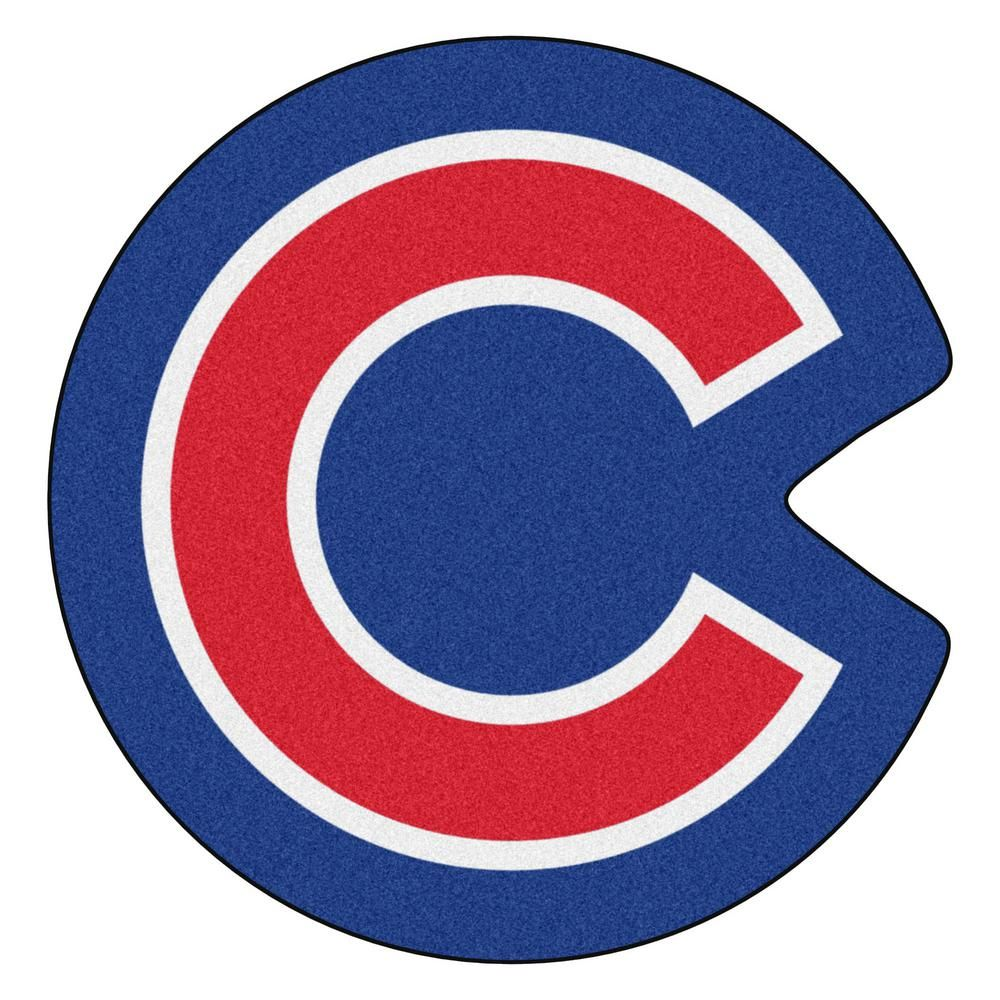 Fanmats Mlb Chicago Cubs 30 In X 30 7 In Indoor Area Rug Mascot Mat 21975 Cubs Mascot Chicago Cubs Logo Shapes