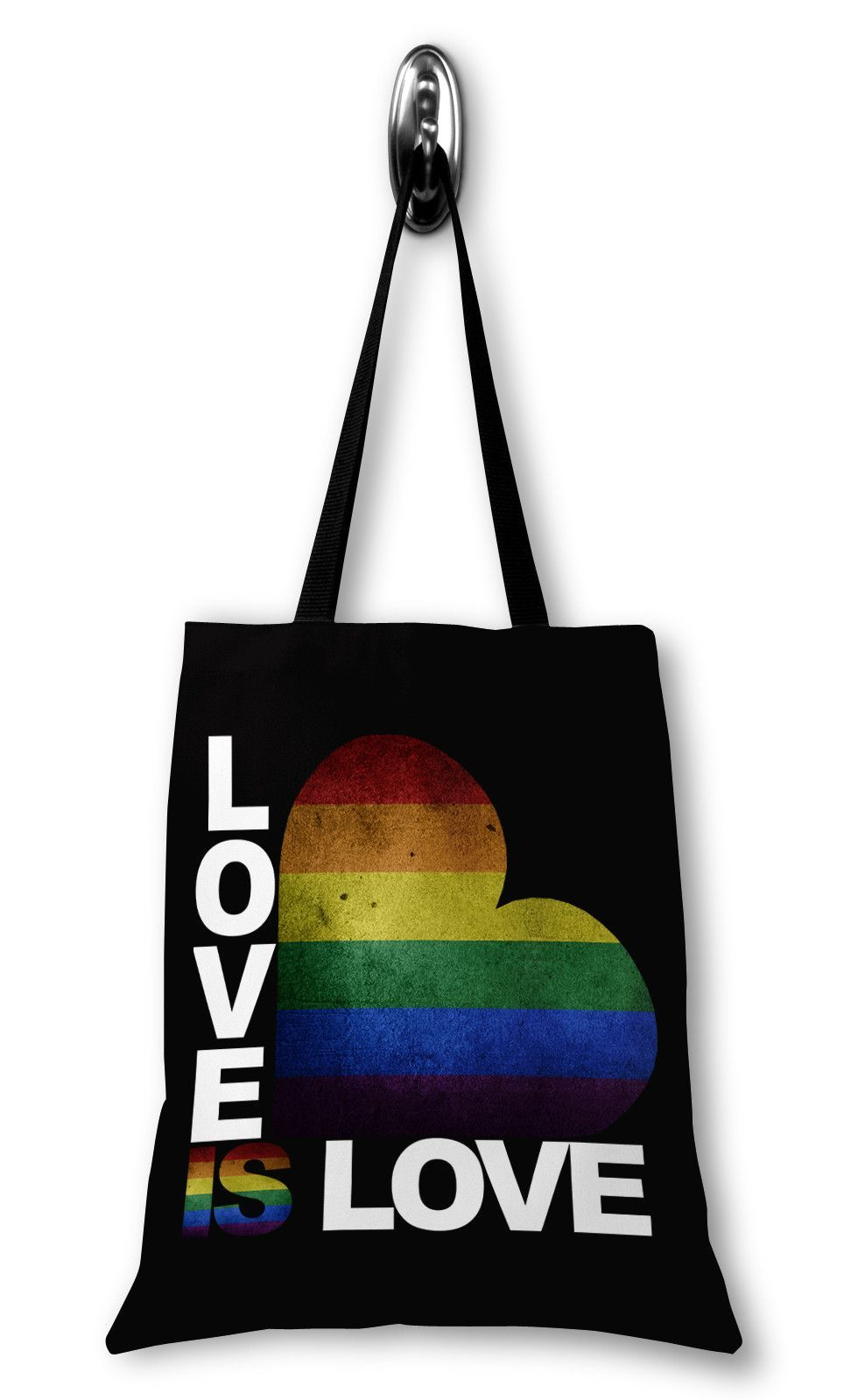 2421b24a2b5e Love is Love Canvas Tote Bag - LGBT Pride Tote Bag - Gay Flag Tote Bag