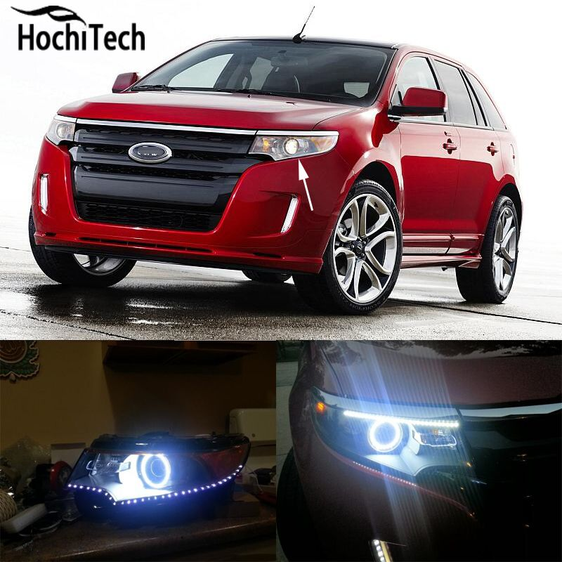 For Ford Edge   Rgb Led Headlight Rings Halo Angel Demon Eyes With Remote Controller