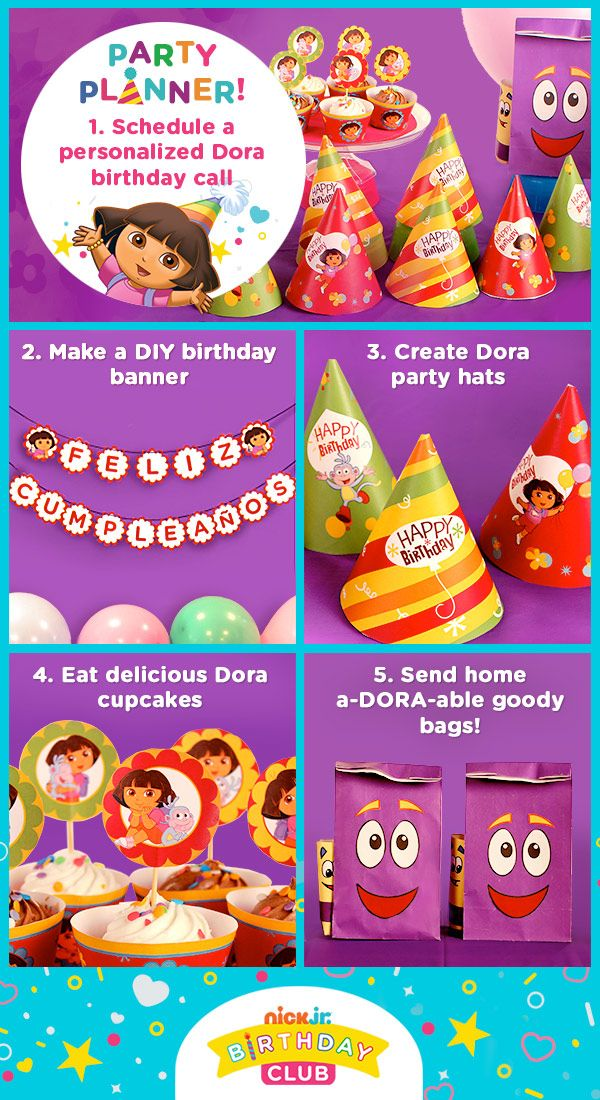Dora Birthday Party Day Planner Birthdays Nick jr birthday and