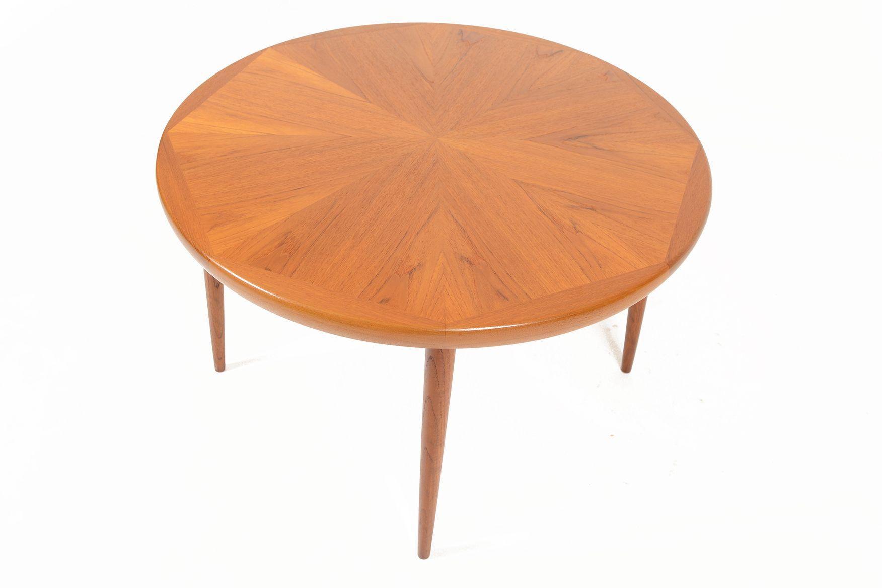 Danish Modern Round Starburst Teak Coffee Table Coffee Table Teak Coffee Table Mid Century Coffee Table [ 1168 x 1752 Pixel ]