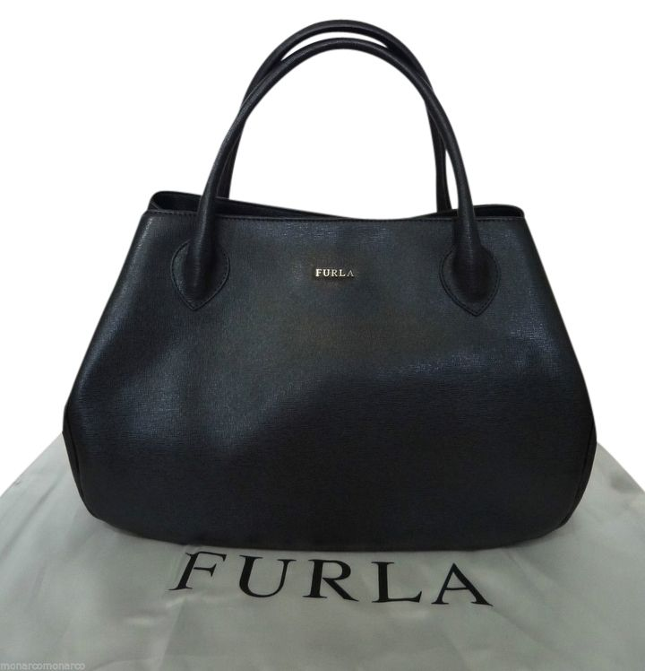 Furla Giselle Black Saffiano Leather Satchel 29 Off Retail