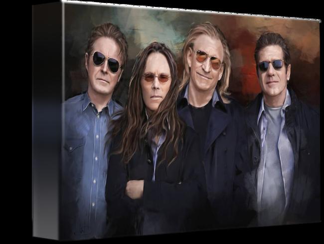 Eagles Band By Melanie D Eagles Band Eagles Framed Art Prints