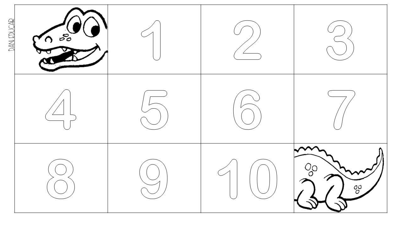 Numero 1 Ao 10 Do Jacare Trabalhando Ordem Numerica Na Educacao