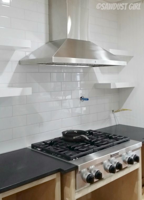 How To Build And Install Floating Shelves In A Kitchen