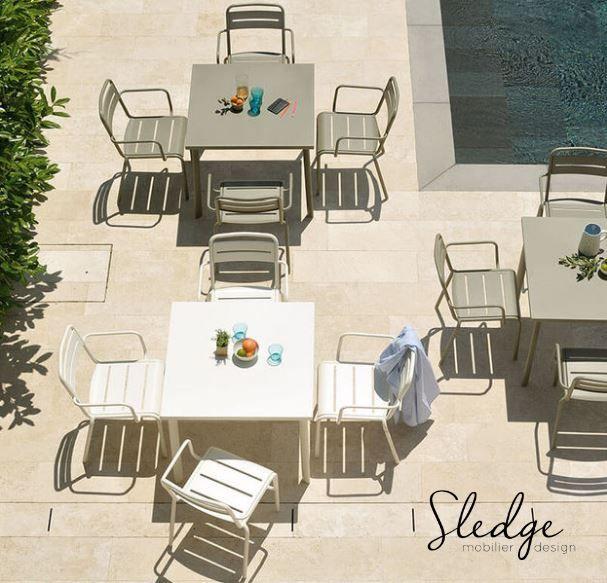 mobilier de cafés restaurant chaises et tables métal pour terrasse ... - Chaise Et Table De Restaurant