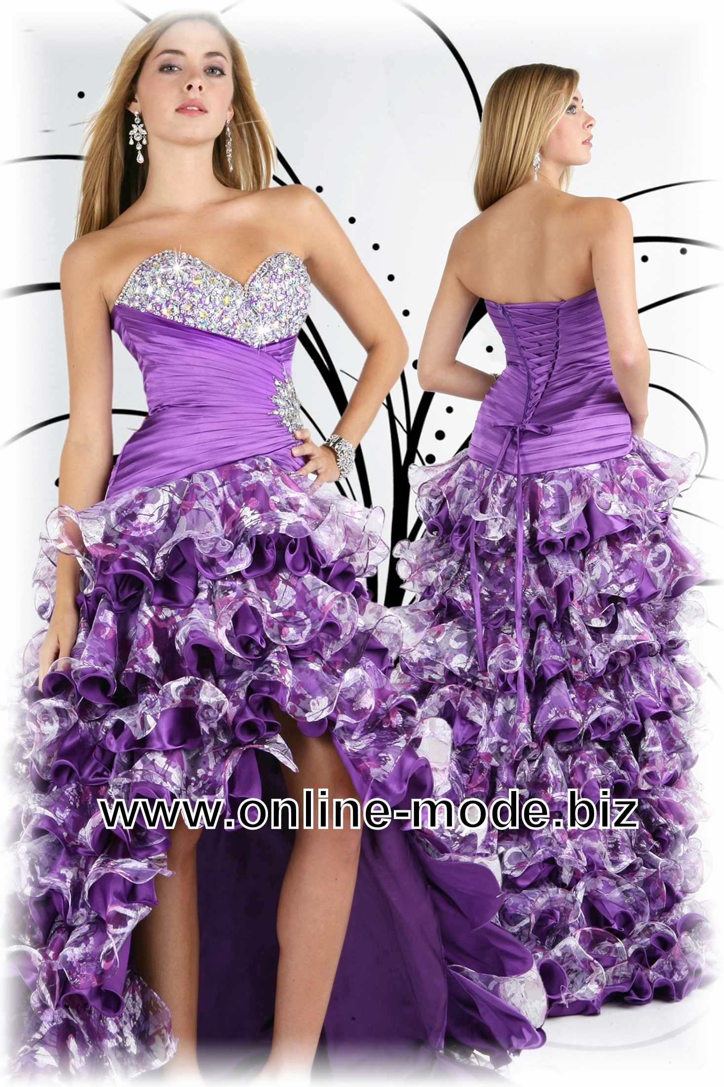 Vokuhila Abendkleid in Lila von www.online-mode.biz   Women\'s ...