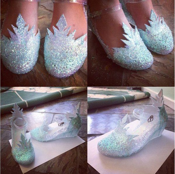 Diy ice queen elsa shoes do it yourself today pinterest queen diy ice queen elsa shoes solutioingenieria Image collections