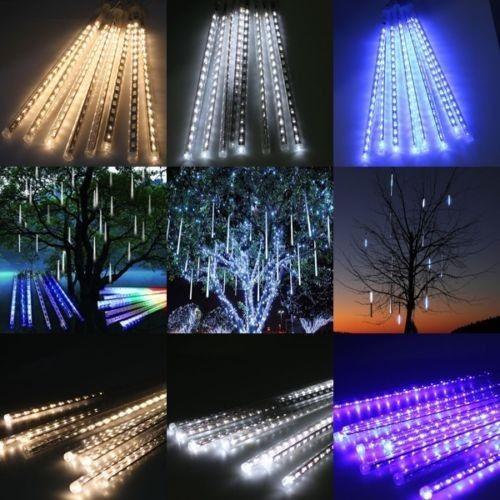 Led Meteor Shower Lights Waterproof 8 Tubes String For