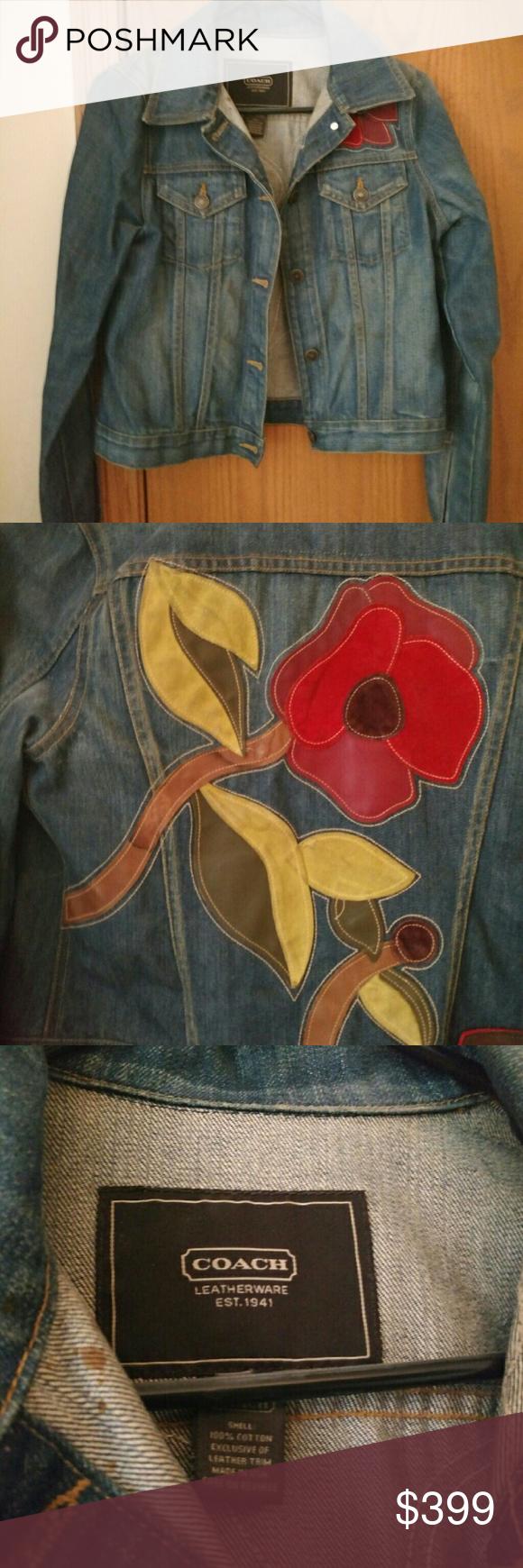 Coach Soho Collection Denim Jean Jacket Jackets Jean Jacket Denim Jacket [ 1740 x 580 Pixel ]