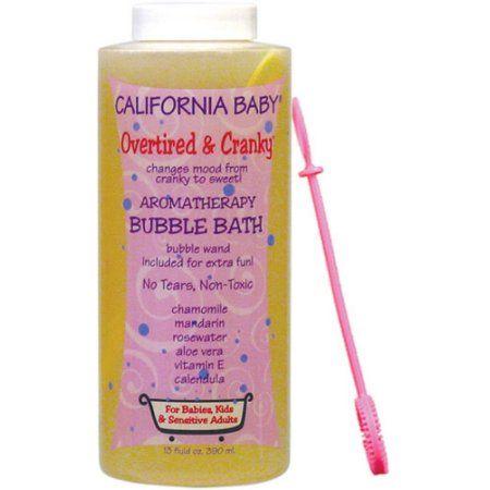 California Baby Overtired & Cranky Bubble Bath, 13 fl oz, Beige