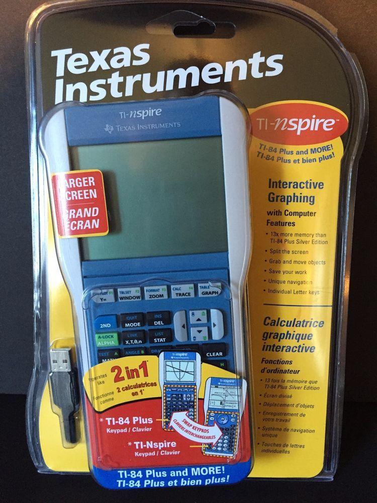 Texas Instruments 2 in 1 Calculator TI-Nspire & TI-84 Plus