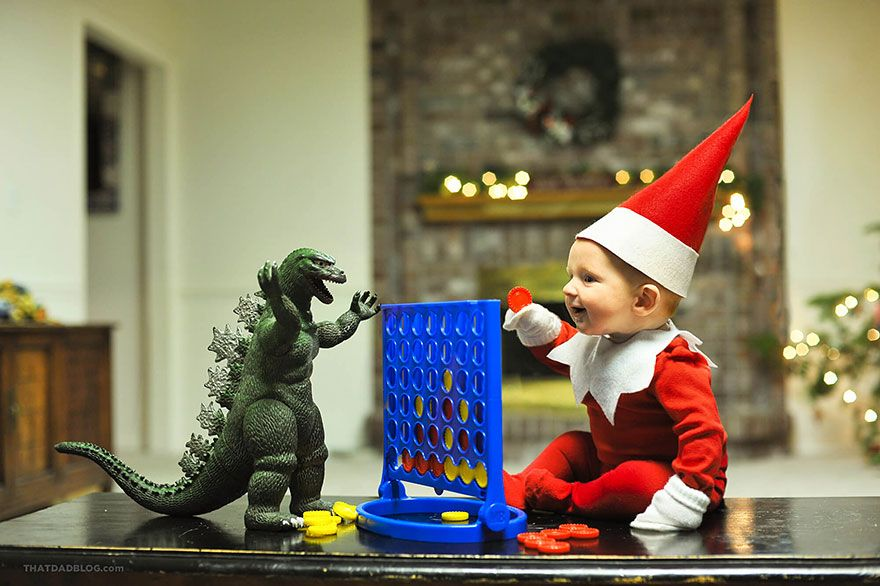This dad turned his baby into Elf On The Shelf and the internet loves it