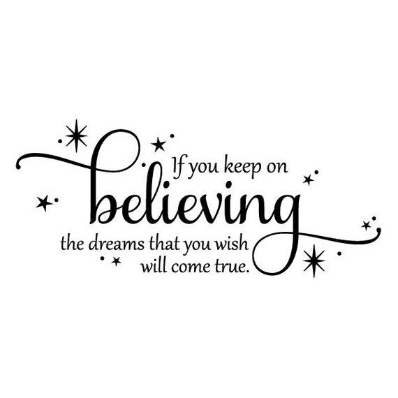 Wall Quote If You Keep On Believing Disney Cinderella Girls Nursery Inspirational Fairy Tale Decor V