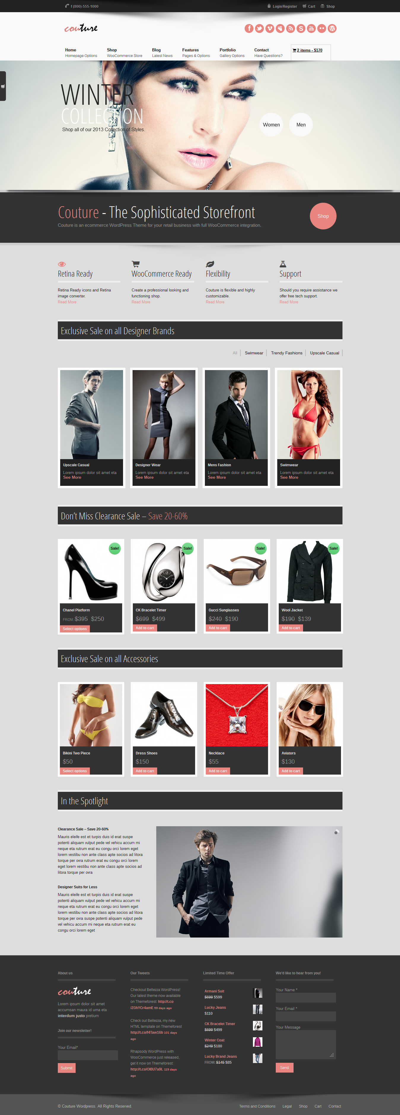 Couture WordPress WooCommerce Theme | Wordpress, eCommerce and ...