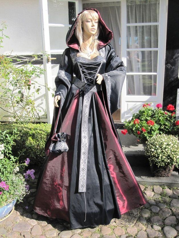 mittelalterkeid gewand gothic robe larp | fantasie kleider