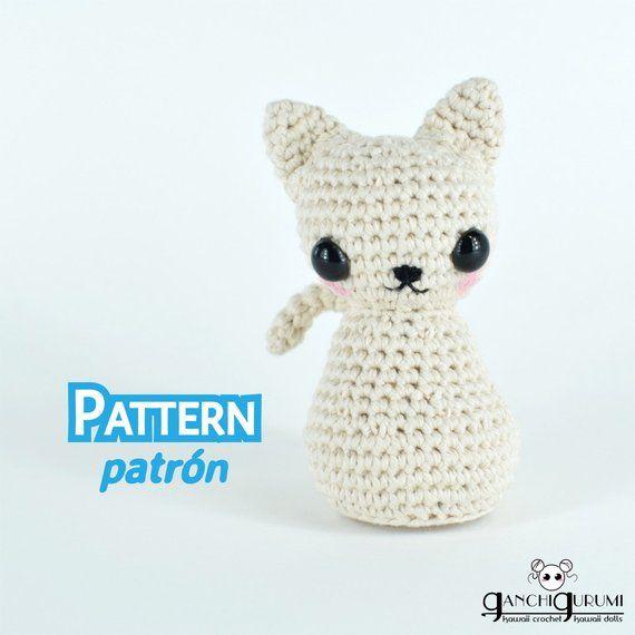 Cat, kitty, crochet cat, stuffed cat, amigurumi pattern, cat pattern ...