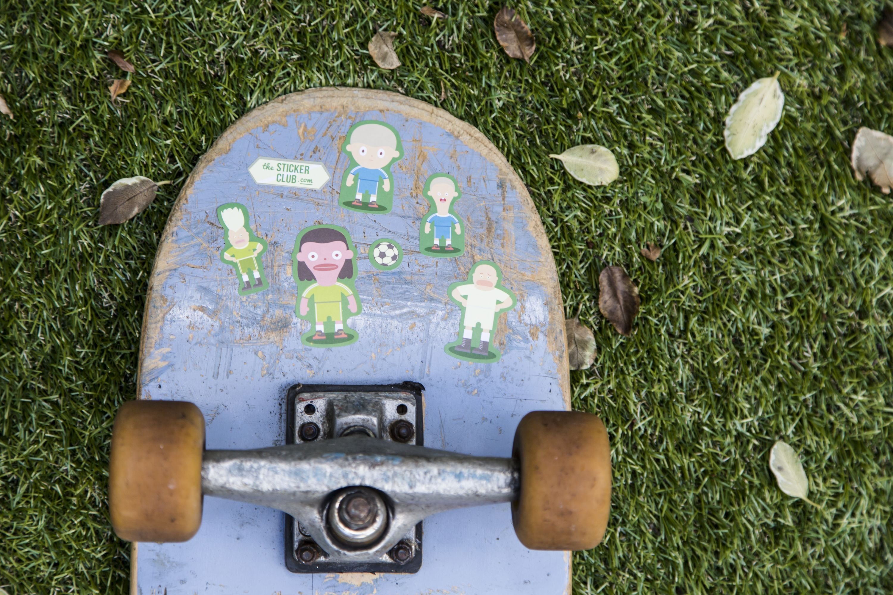 Decorate your skateboard with Sticker Club stickers!