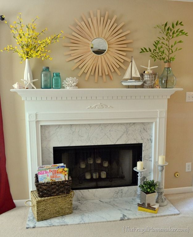 January Mantel Year Of Seasonal Mantels In 2017 Beach Fireplace Mantle