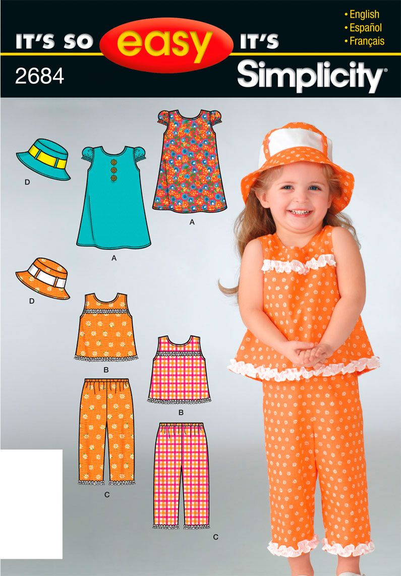 It's So Easy Sewing Patterns : : Simplicity Patterns : Toddler ...