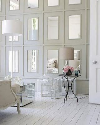 Cover The Whole Wall With Framed Mirrors Home House Interior Interior Design