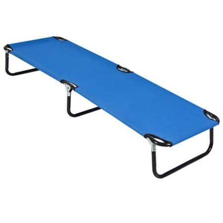 Outdoor Portable Army Military Folding Camping Bed Cot Camp Hiking Blue - Rakuten.com