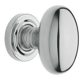 BALDWIN 5025 Polished Chrome Egg Push Button Lock Residential Privacy Door  Knob