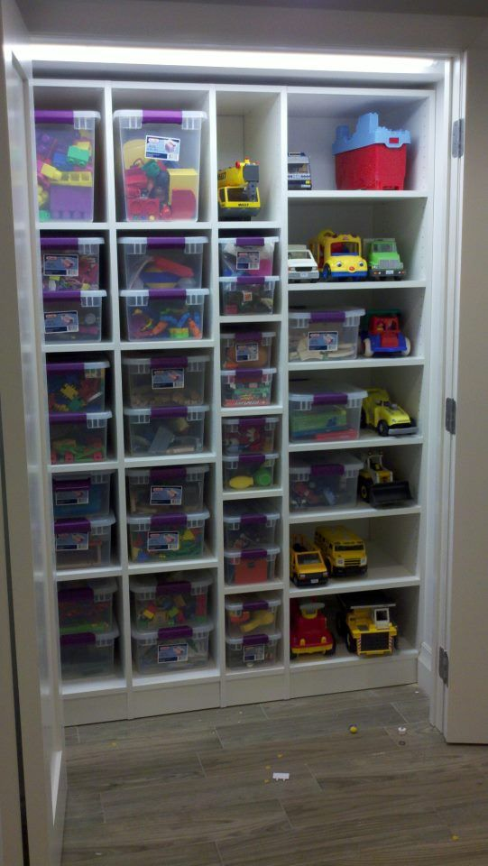 Kids toys closet i wish that could be so simple Closet toy storage ideas
