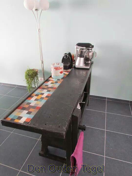 Werkbank in de keuken keuken pinterest werkbank keuken en lounges - Eigentijdse houten lounge ...