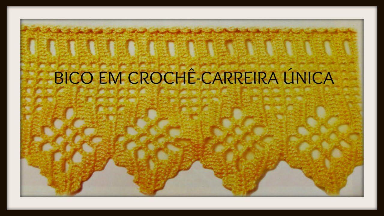 Bico Em Croche Carreira Unica Com Imagens Bico De Croche
