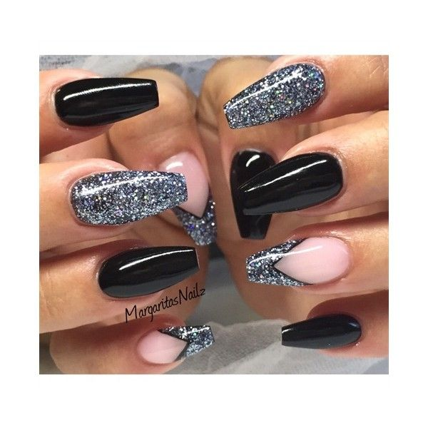 Nail art from the nails magazine nail art gallery gel black nail art from the nails magazine nail art gallery gel black glitter prinsesfo Image collections